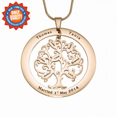 Personalised Tree of My Life Washer 7 - 18ct Rose Gold Plated - The Name Jewellery™