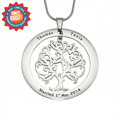 Personalised Tree of My Life Washer 7 - Sterling Silver - The Name Jewellery™