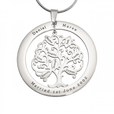 Personalised Tree of My Life Washer 8 - Sterling Silver - The Name Jewellery™