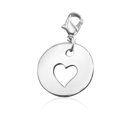 Personalised Cut Out Heart Charm - The Name Jewellery™
