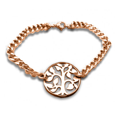 Personalised Tree Bracelet/Anklet - 18ct Rose Gold Plated - The Name Jewellery™