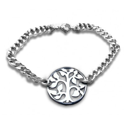 Personalised Tree Bracelet - Sterling Silver - The Name Jewellery™