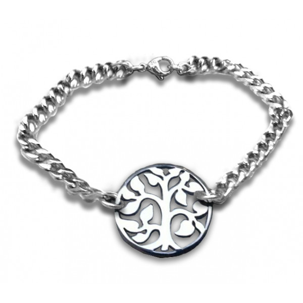 Personalised Tree Bracelet - Sterling Silver - The Name Jewellery™