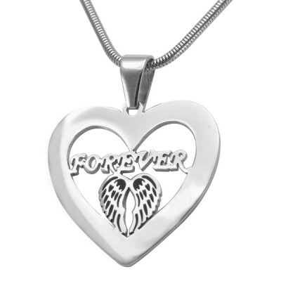 Personalised Angel in My Heart Necklace - Sterling Silver - The Name Jewellery™