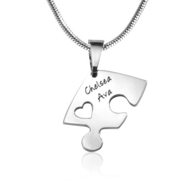Personalised Triple Heart Puzzle - Three Personalised Necklaces - The Name Jewellery™