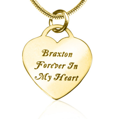 Personalised Forever in My Heart Necklace - 18ct Gold Plated - The Name Jewellery™