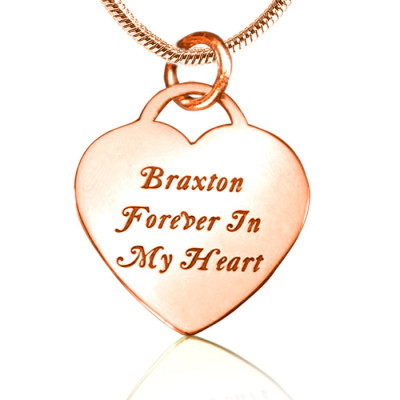 Personalised Forever in My Heart Necklace - 18ct Rose Gold Plated - The Name Jewellery™