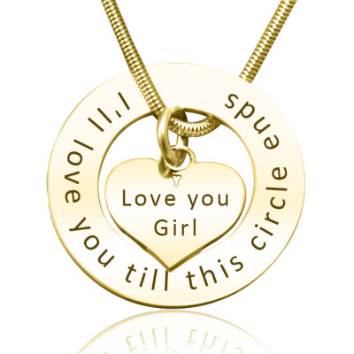 Personalised Circle My Heart Necklace - 18ct Gold Plated - The Name Jewellery™
