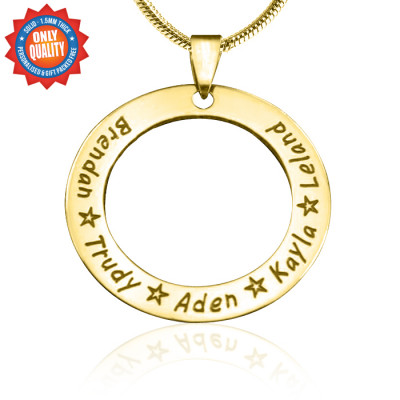 Personalised Circle of Trust Necklace - 18ct Gold Plated - The Name Jewellery™
