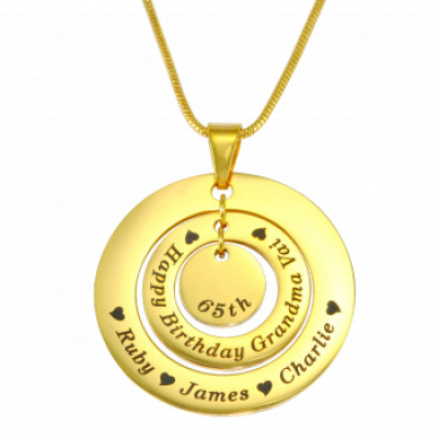 Personalised Circles of Love Necklace - 18ct GOLD Plated - The Name Jewellery™