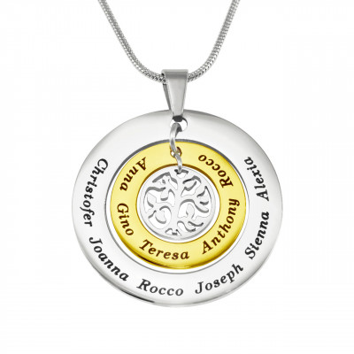 Personalised Circles of Love Necklace Tree - TWO TONE - Gold  Silver - The Name Jewellery™