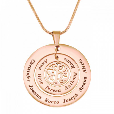 Personalised Circles of Love Necklace Tree - 18ct Rose Gold Plated - The Name Jewellery™