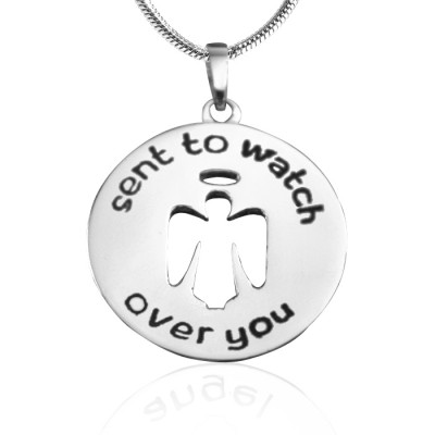 Personalised Guardian Angel Necklace 2 - Sterling Silver - The Name Jewellery™