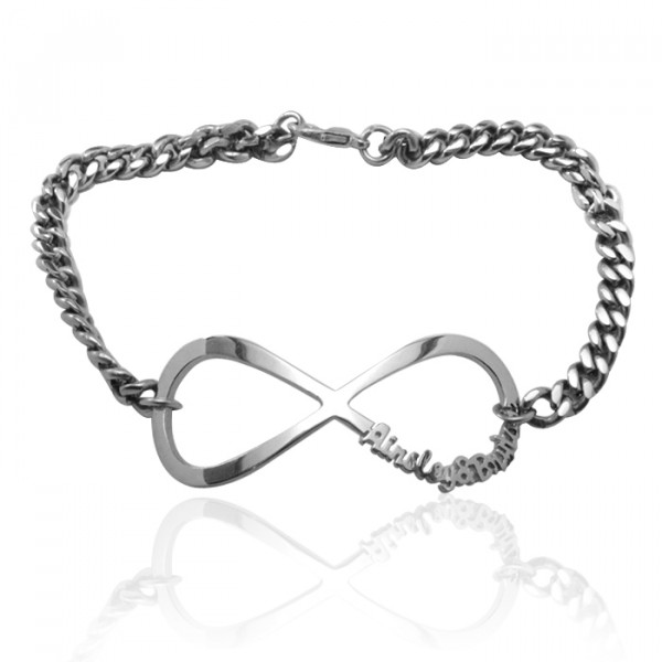 Personalised Infinity Name Bracelet/Anklet - Sterling Silver - The Name Jewellery™