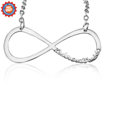 Personalised Classic Infinity Name Necklace - Sterling Silver - The Name Jewellery™