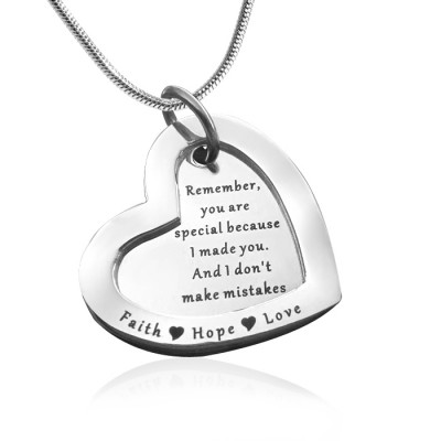 Personalised Love Forever Necklace - sterling Silver - The Name Jewellery™