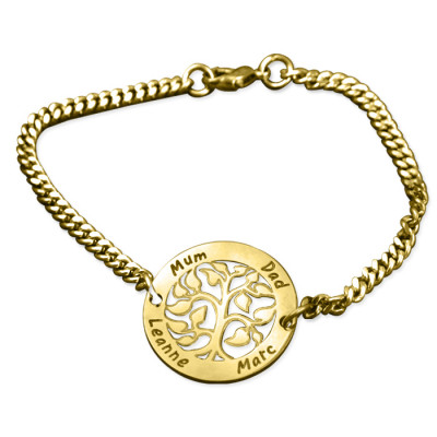 Personalised My Tree Bracelet - 18ct Gold Plated - The Name Jewellery™