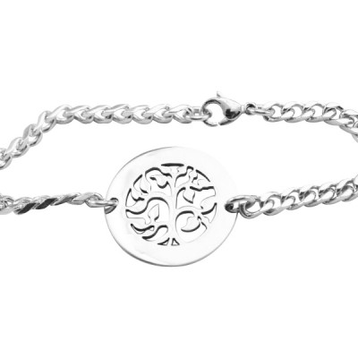 Personalised My Tree Bracelet/Anklet - Sterling Silver - The Name Jewellery™