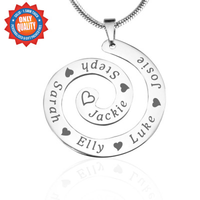 Personalised Swirls of Time Necklace - Sterling Silver - The Name Jewellery™