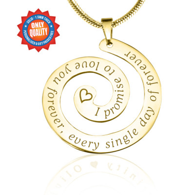 Personalised Promise Swirl - 18ct Gold Plated*Limited Edition - The Name Jewellery™
