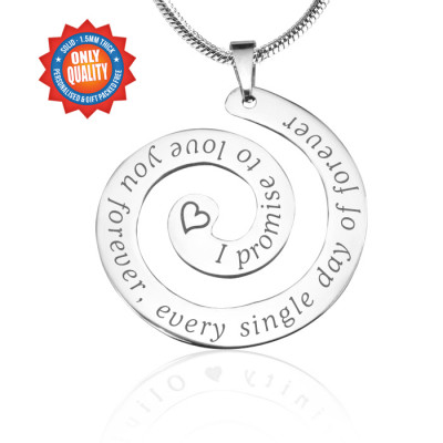 Personalised Promise Swirl - Sterling Silver *Limited Edition - The Name Jewellery™