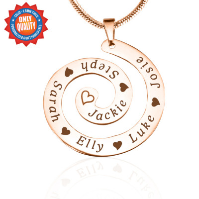 Personalised Swirls of Time Necklace - 18ct Rose Gold Plated - The Name Jewellery™
