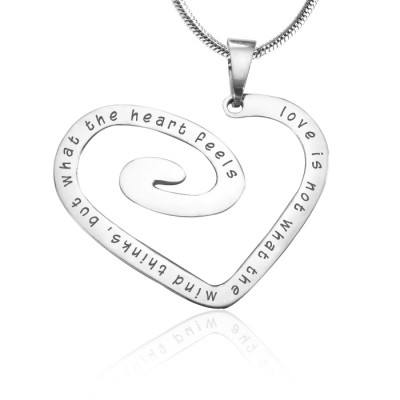 Personalised Love Heart Necklace - Sterling Silver *Limited Edition - The Name Jewellery™