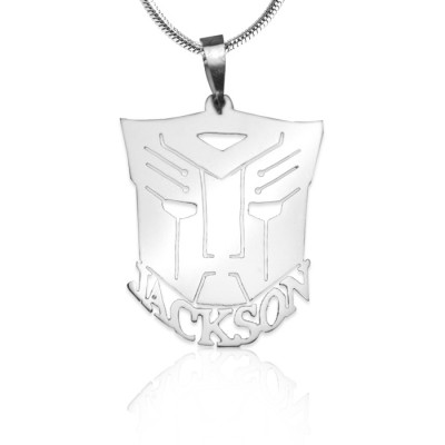 Personalised Transformer Name Necklace - Sterling Silver - The Name Jewellery™
