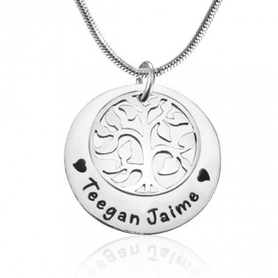 Personalised My Family Tree Single Disc - Sterling Silver - The Name Jewellery™
