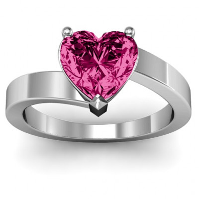 Passion  Large Heart Solitaire Ring - The Name Jewellery™