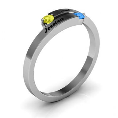 Soleil  Tipped Bypass Ring - The Name Jewellery™