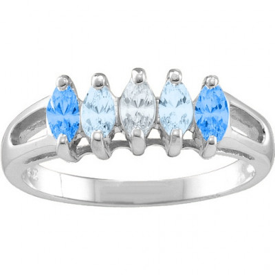 Tempest  2-7 Marquise Ring - The Name Jewellery™