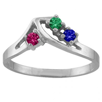 1-5 Stone Crest Ring - The Name Jewellery™