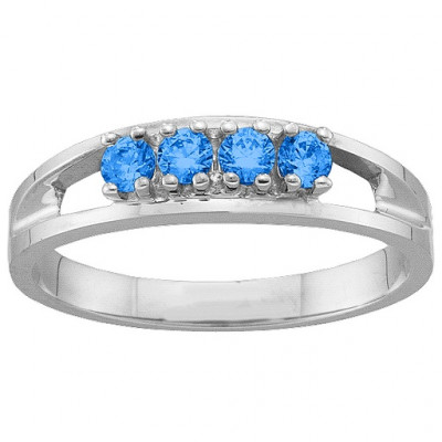 1-6 Gemstone Ring - The Name Jewellery™