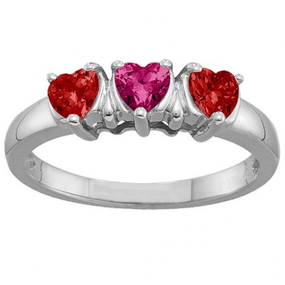 2-5 Hearts Ring - The Name Jewellery™