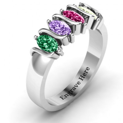 2-5 Oval Stones Ring - The Name Jewellery™