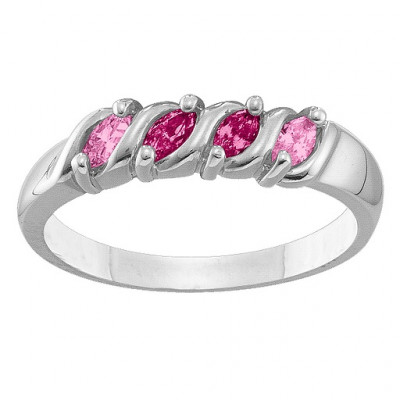 2-6 Marquise S-Curve Ring - The Name Jewellery™