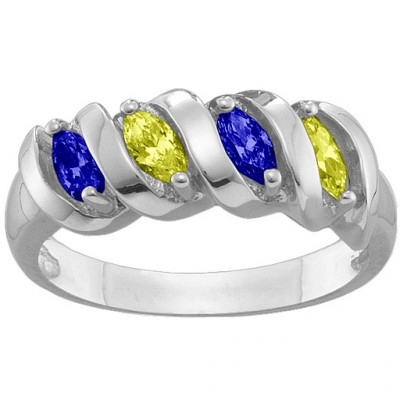 2-6 Marquise Spiral Ring - The Name Jewellery™