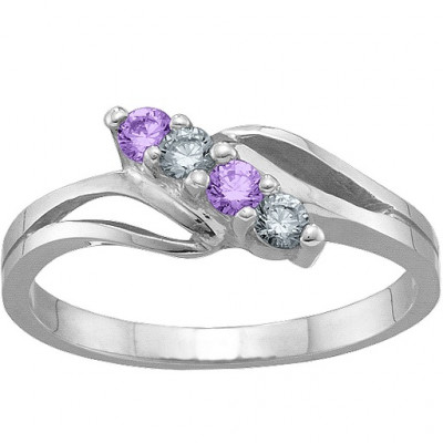 2-7 Stones Branch Ring - The Name Jewellery™