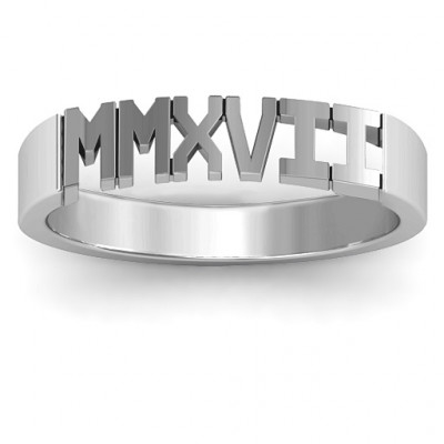 2017 Roman Numeral Graduation Ring - The Name Jewellery™