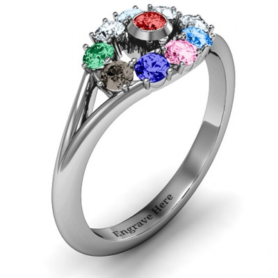 3 to 10 Stone  Solar  Ring - The Name Jewellery™