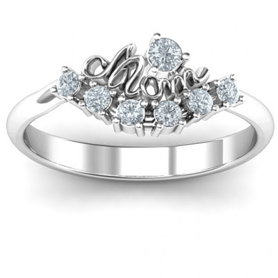 4 - 9 Stone Mom's Glimmering Love Ring - The Name Jewellery™
