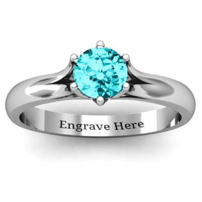 6 Prong Solitaire Ring - The Name Jewellery™
