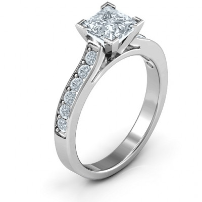Janelle Princess Cut Ring - The Name Jewellery™