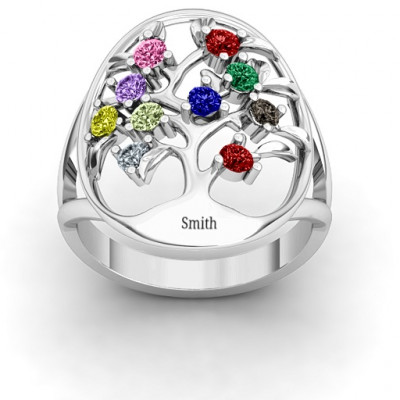 Oval Family Tree Ring - The Name Jewellery™