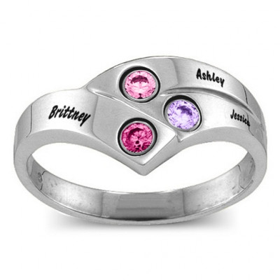 Au Courant  Ring with 2-4 Stones - The Name Jewellery™