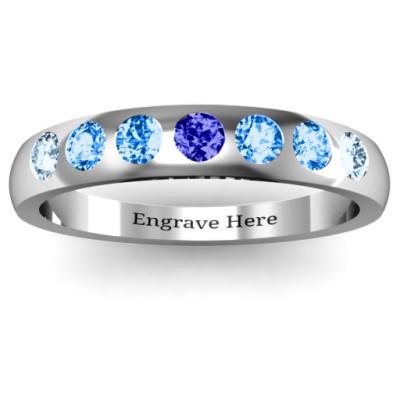 Gypsy Set Gemstone Belt Ring - The Name Jewellery™