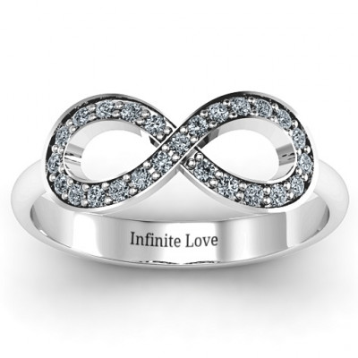 Accented Infinity Ring - The Name Jewellery™