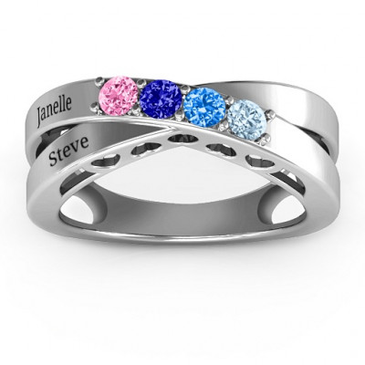 Across My Heart 4-Stone Ring - The Name Jewellery™