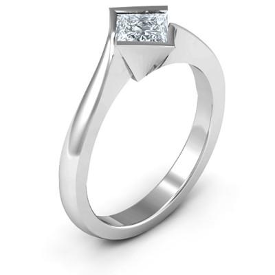 Alexandra Princess Cut Ring - The Name Jewellery™